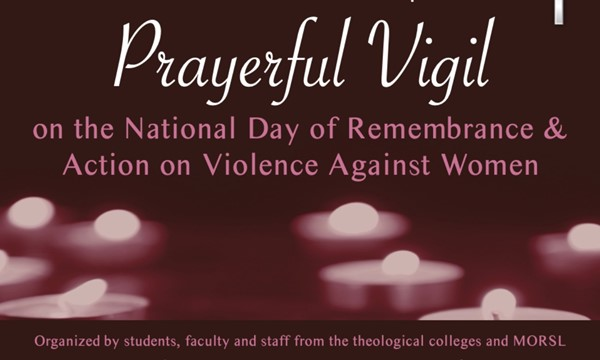 Prayerful Vigil on the National Day of Remembrance and Action on Violence Against Women