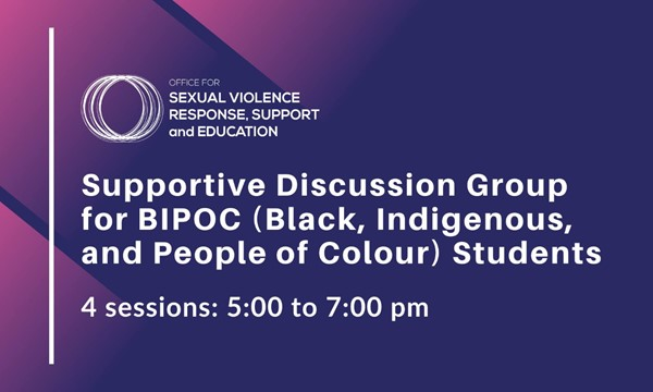 OSVRSE Support Sessions for BIPOC Students