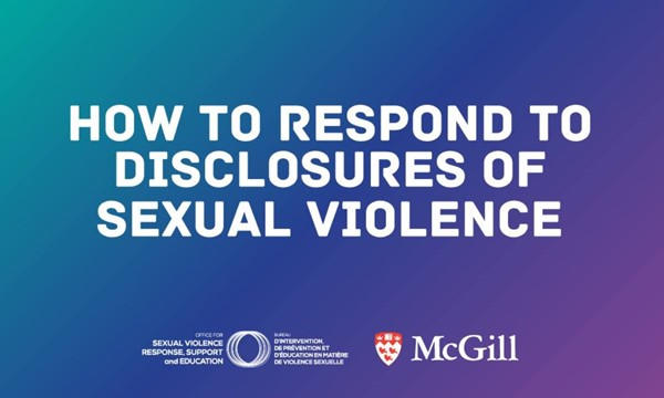 How to Respond to Disclosures Workshop