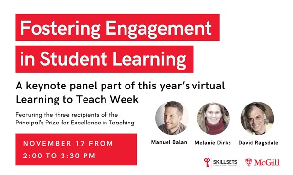 Fostering Student Engagement in Learning (Learning to Teach Week)
