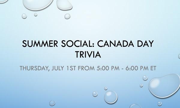 Canada Day Trivia