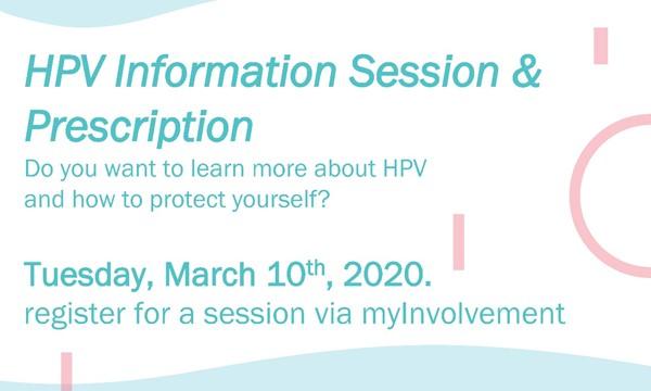 HPV Information Session & Prescription Event