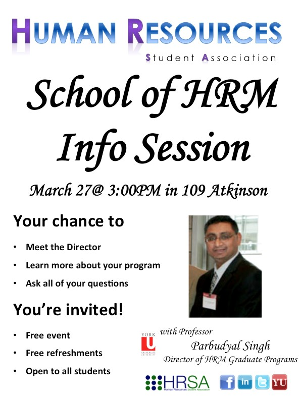 School of HRM Information Session with Professor Parbudyal Singh